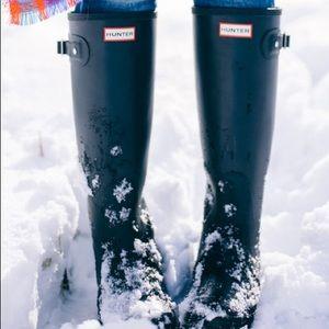 Hunter Original Tall Rain Boots Black Matte